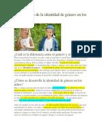 El Desarrollo de La Identidad de Género en Los Niños
