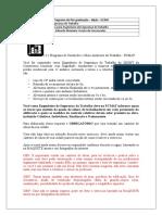 ATIVIDADE PCMAT - DOCUMENTAÇÃO