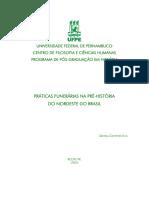 Práticas Funerárias Na Pré-história Do Nordeste Do Brasil-Daniela Cisneiros