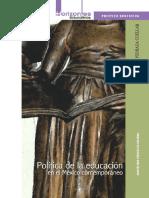 Politica de la educacion en el Mexico contemporaneo.pdf