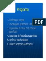 Aula 04 - Recalque de Fundações Diretas