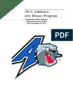 unca athletics etiquette dinner program