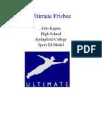 sport ed ultimate frisbee