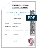 INFORME 6 FÁRMACO