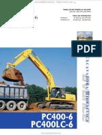 Catalogo Excavadoras Hidraulicas Pc400lc6 Komatsu