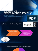 Diseño de Experimentos Taguchi
