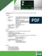 Tarjeta de Credito Visa Internacional