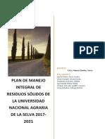 Plan de Manejo Integral de Residuos Solidos 2017