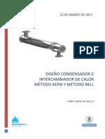 Metodo Kern Bell intercambiador de calor