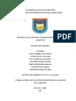 Metodos Cualitativos Para La Determinacion de Proteinas 2017