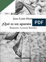 DEOTTE, Jean Louis Que Es Un Aparato Estetico2