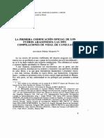 Primera Codificación Oficial de Los Fueros Aragoneses