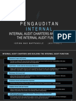 Internal Audit Charters and Building the Internal Audit Function