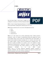Bhel Summer Trainig Construction of Turbo-generator