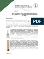 Densidad en Leche Metodo Picnometro y Lactodensimetro