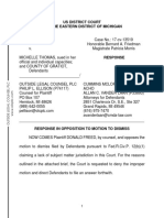 Freed response to motion to dismiss