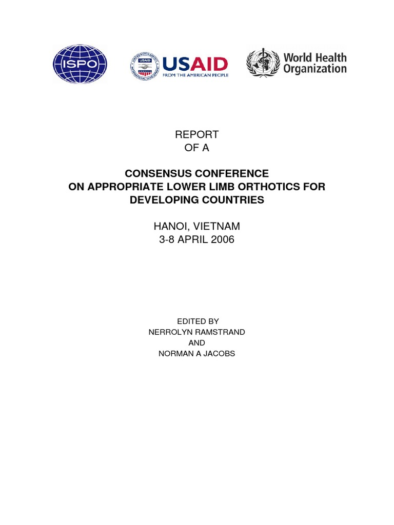 Orthotics Consensus Conference Report | Physical Therapy | Poverty