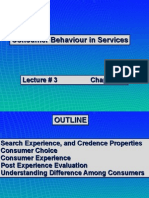 Consumer Behavior in Services-Lect # 3