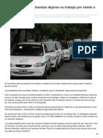 Eldia.com-Casi Un 30 de Los Taxistas Dejaron Su Trabajo Por Miedo a Los Robos Violentos
