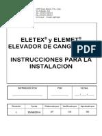 Elevador de Cangilones - Instrucciones Para La Instalacion - Rev.1