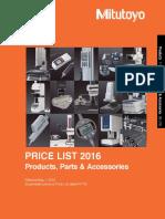 Mitutoyo PRICE LIST 2016.pdf