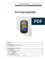 Considerazioni Utillizzo Etrex35 Touch