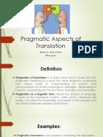 Pragmatic Aspects of Translation
