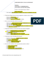 Sample English Proficiency Exam Answer Key-1