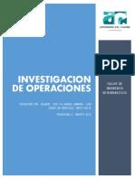 Taller Investigacion de Operaciones Caso Wagner