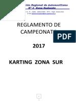 Reglamento Campeonato Karting Del Sur - 2017