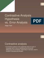 contrastive analysis hypothesis vs  error analysis