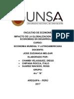 Impacto de La Globalizacion en Las Economias en Desarrollo