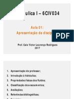 Aula 01 - Apresentação Da Disciplina e Revisão Mec. Flu