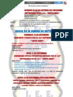 PROYECTO DEL PROGRAMA DEL 165° ANIVERSARIO DE LA I