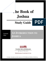 The Book of Joshua – Lesson 1 – StudyGuide