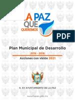 Plan Municipal de Desarrollo 2015 2018 Visión 2021 Lp