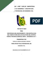 Proyecto Tesis II de Everlin Lorenso Maquera Cordova