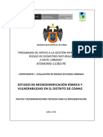 Pautas Microzonificacion Sisimica - Comas
