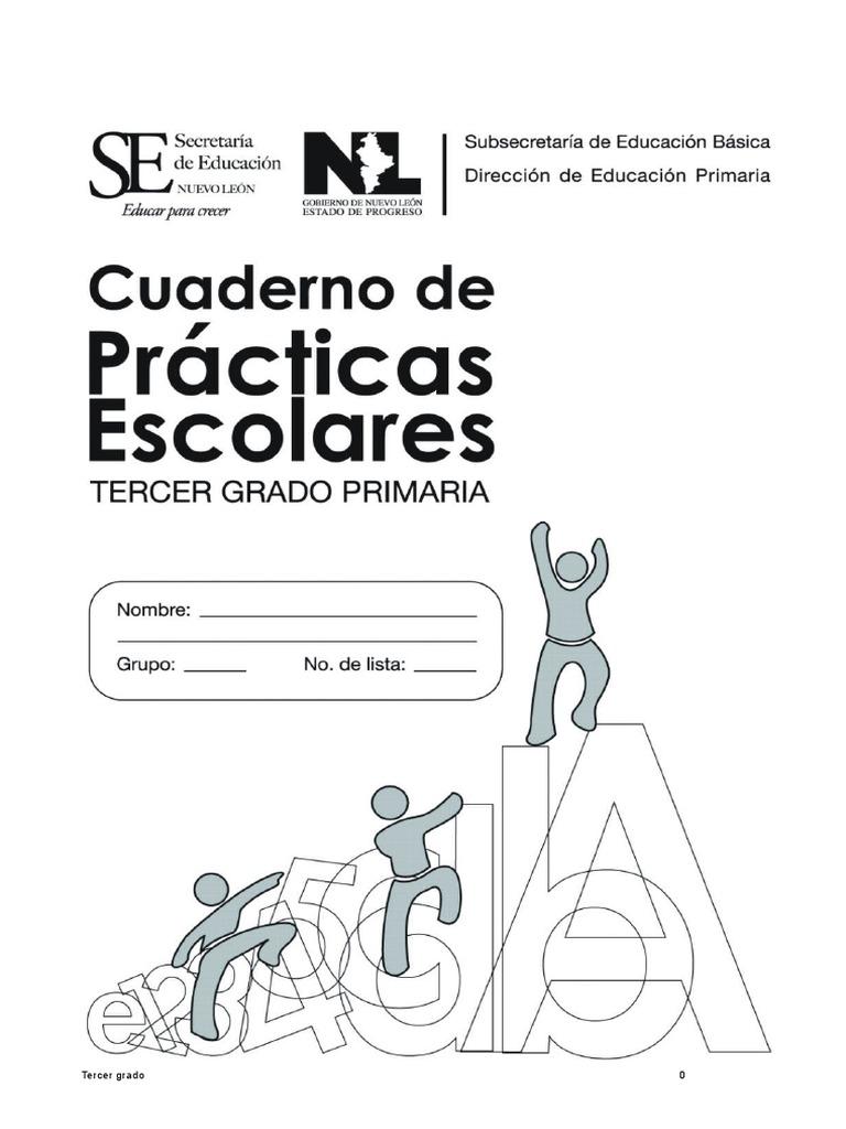 Cuaderno de Prácticas Escolares de Tercer Grado