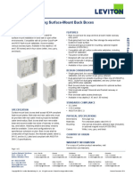 Leviton 42777-Xxx SurfaceMount Back Boxes