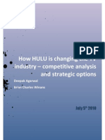 How HULU is changing the TV industry – competitive analysis and strategic options