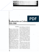 La Educación en Colombia 1958-1980 Aline Helg