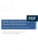 2011 LITERATURE REVIEW on Disaster Risk Reduction Ballara Tomo