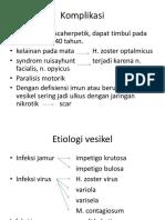 Komplikasi Dan Etiologi Vesikel