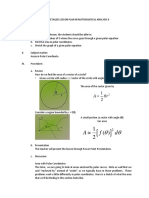 Semi-Detailed Lesson Plan(Polar Coordinates)
