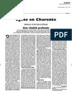 Article du Courrier de Charente. 2 juillet 2010.