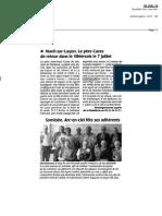 Article du 6 juillet du Courrier de L'Ouest. La Rebellerie2010-07-06~1859@Le Courrier de l Ouest Edition La Rebellerie Livre Cazes