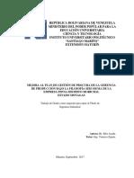 MEJORA AL PLAN DE GESTIÓN DE PROCURA DE LA GERENCIA  DE PRODUCCIÓN BAJO LA FILOSOFÍA SEIS SIGMA DE LA  EMPRESA PDVSA DISTRITO MORICHAL  ESTADO MONAGAS