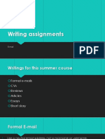 Writing Assignments e Mail