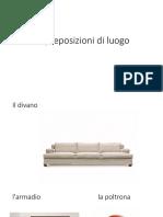 Preposiciones en italiano voc. casa y alimentos